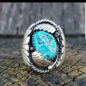 Authentic Antique Signed Turquiose ring